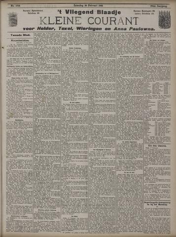 Vliegend blaadje : nieuws- en advertentiebode voor Den Helder 1909-02-20