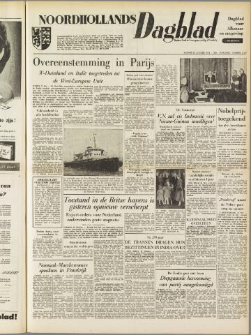 Noordhollands Dagblad : dagblad voor Alkmaar en omgeving 1954-10-22