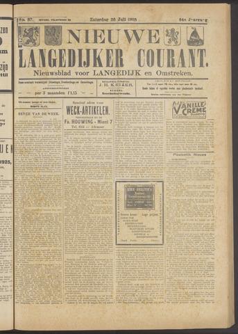 Nieuwe Langedijker Courant 1925-07-25