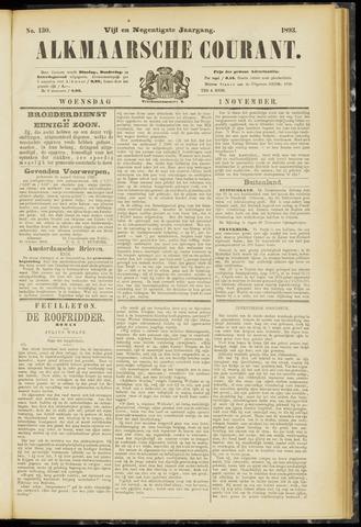 Alkmaarsche Courant 1893-11-01