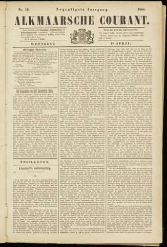 Alkmaarsche Courant 1888-04-18