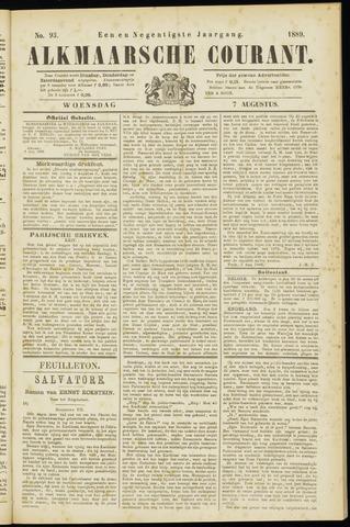 Alkmaarsche Courant 1889-08-07