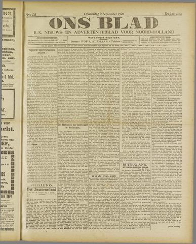 Ons Blad : katholiek nieuwsblad voor N-H 1920-09-09