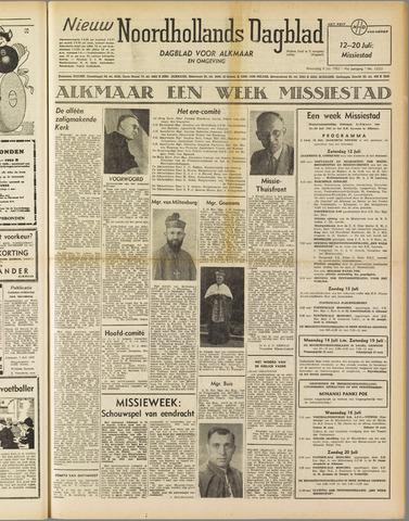 Nieuw Noordhollandsch Dagblad : voor Alkmaar en omgeving 1952-07-09