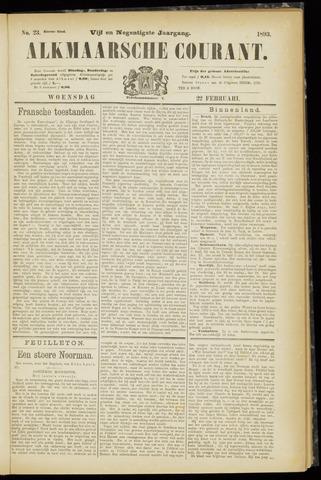 Alkmaarsche Courant 1893-02-22