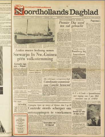 Noordhollands Dagblad : dagblad voor Alkmaar en omgeving 1962-12-18