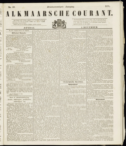 Alkmaarsche Courant 1871-12-03