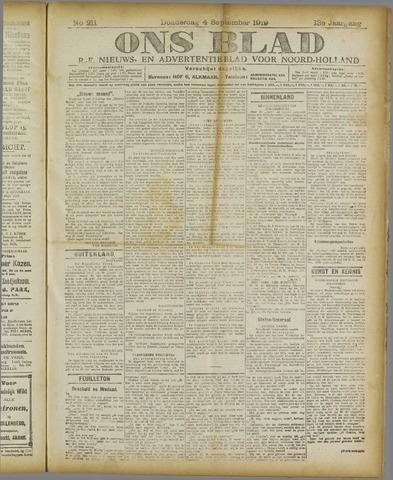 Ons Blad : katholiek nieuwsblad voor N-H 1919-09-04