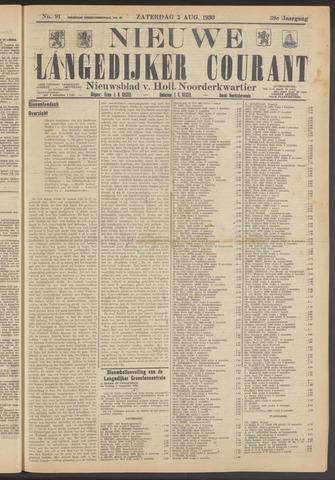 Nieuwe Langedijker Courant 1930-08-02