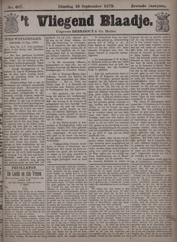 Vliegend blaadje : nieuws- en advertentiebode voor Den Helder 1879-09-16