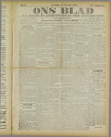 Ons Blad : katholiek nieuwsblad voor N-H 1920-01-13
