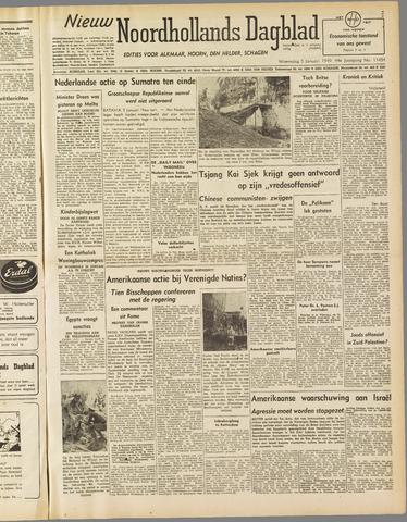 Nieuw Noordhollandsch Dagblad : voor Alkmaar en omgeving 1949-01-05