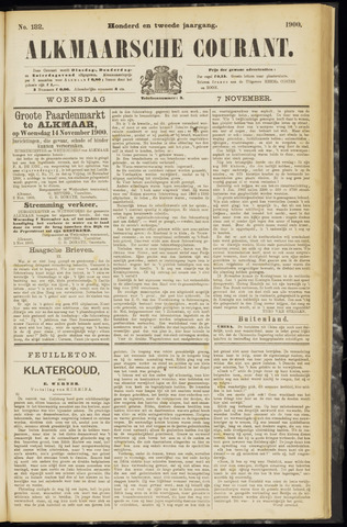 Alkmaarsche Courant 1900-11-07