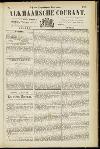 Alkmaarsche Courant 1893-04-14