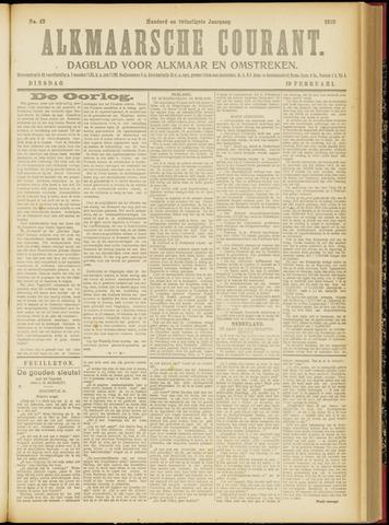Alkmaarsche Courant 1918-02-19