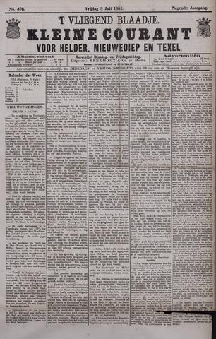 Vliegend blaadje : nieuws- en advertentiebode voor Den Helder 1881-07-08