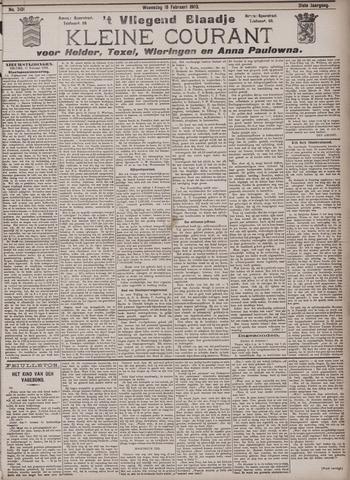 Vliegend blaadje : nieuws- en advertentiebode voor Den Helder 1903-02-18