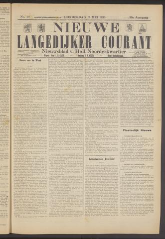 Nieuwe Langedijker Courant 1930-05-15