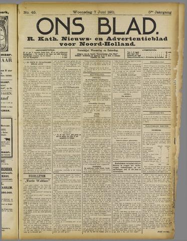 Ons Blad : katholiek nieuwsblad voor N-H 1911-06-07