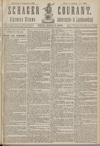 Schager Courant 1920-08-07