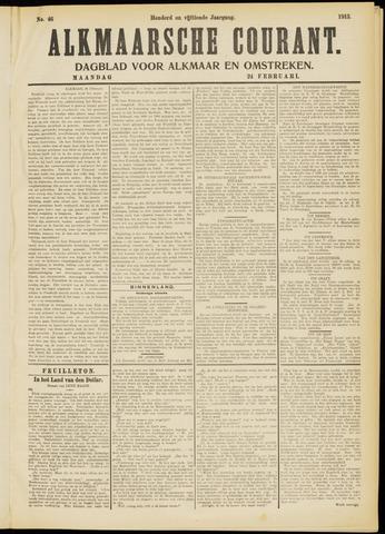 Alkmaarsche Courant 1913-02-24