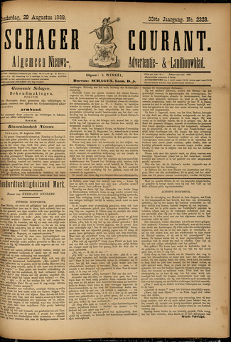 Schager Courant 1889-08-29