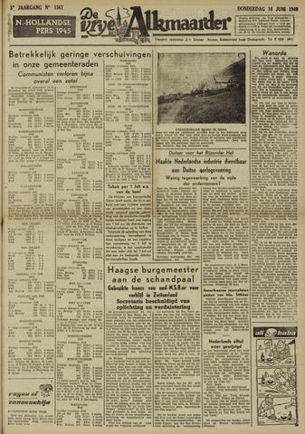 De Vrije Alkmaarder 1949-06-16