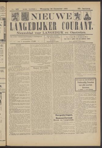 Nieuwe Langedijker Courant 1920-12-22