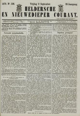 Heldersche en Nieuwedieper Courant 1870-09-09