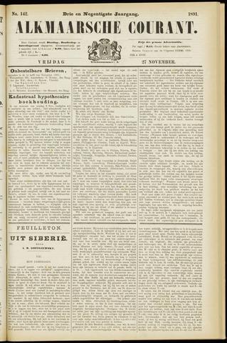 Alkmaarsche Courant 1891-11-27