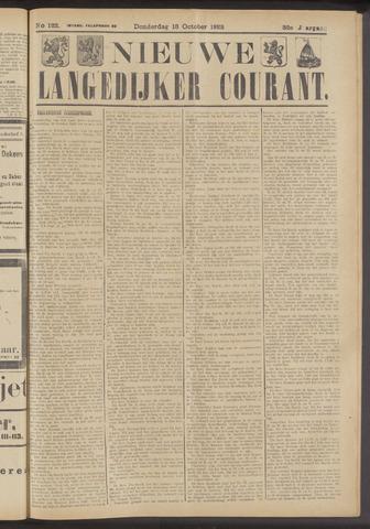 Nieuwe Langedijker Courant 1923-10-18