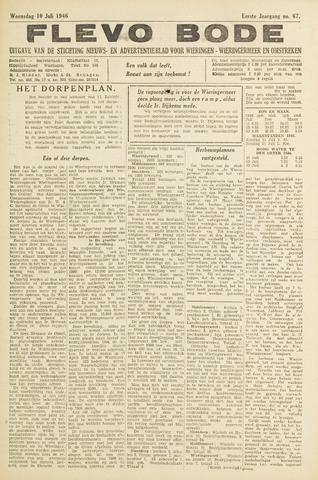 Flevo-bode: nieuwsblad voor Wieringen-Wieringermeer 1946-07-10