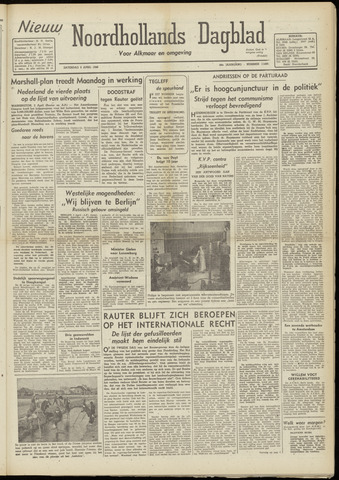 Nieuw Noordhollandsch Dagblad : voor Alkmaar en omgeving 1948-04-03