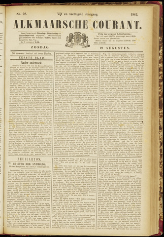 Alkmaarsche Courant 1883-08-19