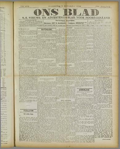 Ons Blad : katholiek nieuwsblad voor N-H 1919-11-06
