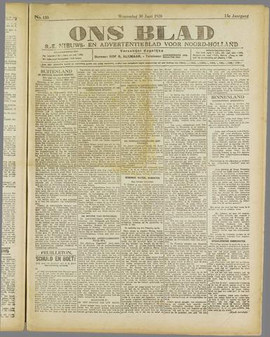 Ons Blad : katholiek nieuwsblad voor N-H 1920-06-30