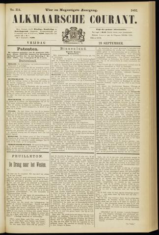 Alkmaarsche Courant 1892-09-23