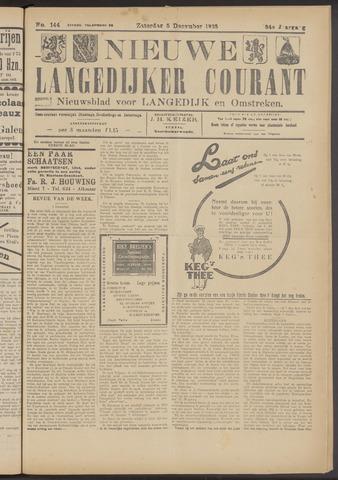 Nieuwe Langedijker Courant 1925-12-05