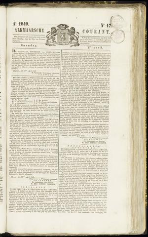 Alkmaarsche Courant 1840-04-27
