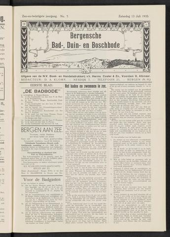Bergensche bad-, duin- en boschbode 1935-07-13