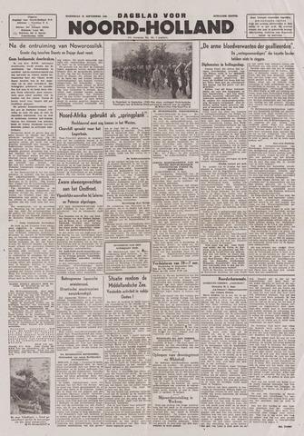 Dagblad Noord-Holland, Schager editie 1943-09-22