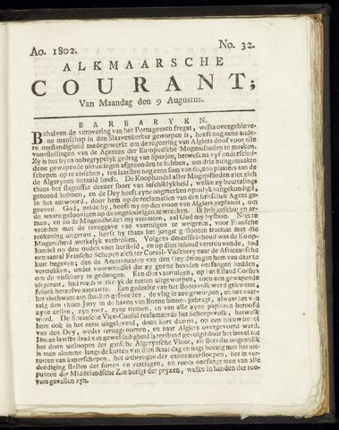 Alkmaarsche Courant 1802-08-09