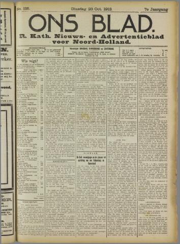 Ons Blad : katholiek nieuwsblad voor N-H 1913-10-28