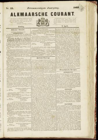 Alkmaarsche Courant 1865-04-09