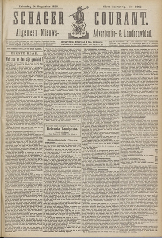 Schager Courant 1920-08-14