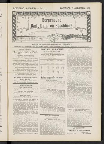 Bergensche bad-, duin- en boschbode 1922-08-19