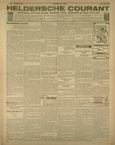 Heldersche Courant 1933-07-11