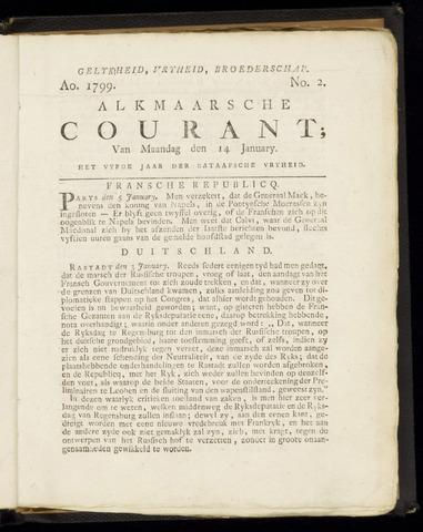 Alkmaarsche Courant 1799-01-14