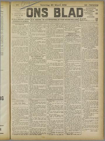 Ons Blad : katholiek nieuwsblad voor N-H 1918-03-30