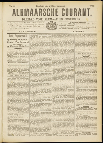 Alkmaarsche Courant 1906-04-05